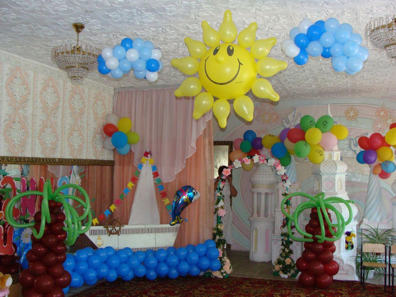 Оформление праздничными шарами своими руками